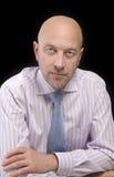 Mężczyzna w pasiastym krawacie i koszula Obrazy Stock