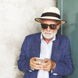 Mężczyzna wąsy brody czasu wolnego stylu Mądrze Przypadkowy pojęcie Obraz Stock