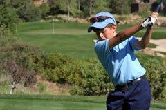 mężczyzna z golfa young Zdjęcia Stock