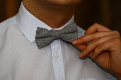 Mężczyzna z łęku krawatem Zdjęcie Royalty Free