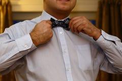 Mężczyzna z łęku krawatem Zdjęcie Stock