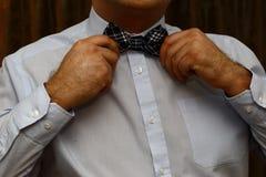 Mężczyzna z łęku krawatem Obrazy Royalty Free