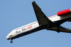 MD-80 linia lotnicza 12GO Fotografia Royalty Free