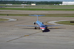 A MD80 airplane from American Airlines (AA) Royalty Free Stock Photo