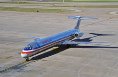A MD80 airplane from American Airlines (AA) Stock Photos