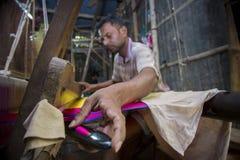 MD Irfan 36 έτη ένας εργαζόμενος Benarashi Palli Στοκ φωτογραφία με δικαίωμα ελεύθερης χρήσης