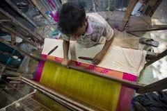 MD Irfan 36 έτη ένας εργαζόμενος Benarashi Palli Στοκ Εικόνες