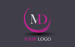 MD M D Letter Logo Design Lizenzfreie Stockfotografie