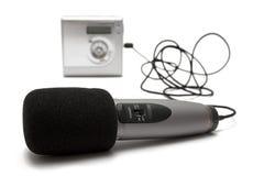 md-mikrofonregistreringsapparat w Arkivbild