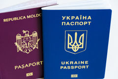 MD passport and UA pssport Royalty Free Stock Photo