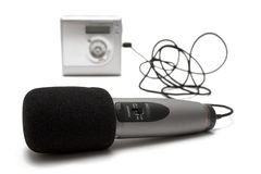 MD Recorder w/ Microphone Stock Photography