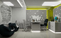 MD Room 3D Rendered Royalty Free Stock Image