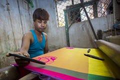 MD Salim 39 лет работник Benarashi Palli Стоковая Фотография