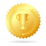 Médaille d'or de champion Image stock