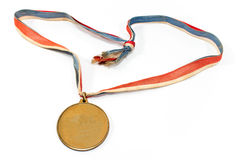 Médaille de sport d'or de vintage Photo stock