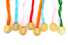 Médailles d'or Photo libre de droits