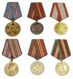 Médailles d'isolement Photographie stock
