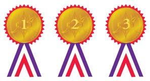 Médailles de récompense Images libres de droits