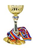 Médailles et trophée de sports Photographie stock
