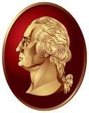 Médaillon de George Washington Photographie stock libre de droits