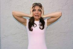 Mädchen, das im Terror schreit! Lizenzfreies Stockfoto