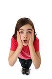 Mädchen, das oben schaut Lizenzfreie Stockfotos