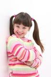 Mädchen in den rosafarbenen Streifen Lizenzfreie Stockfotos
