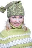 Mädchen in der warmen Kleidung Lizenzfreie Stockfotos