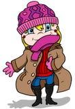 Mädchen in der Winterkleidung Stockfotos