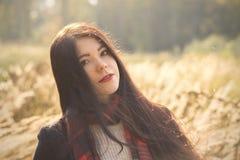 Mädchen im Herbst Lizenzfreies Stockfoto