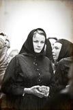 Mädchen im Unkraut-Volkskostüm der Witwe von Vracov Lizenzfreie Stockfotografie