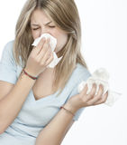 Mädchen mit Allergien Stockfotos