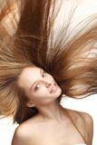 Mädchen mit dem langen Haar Stockfoto