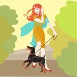 Mädchen mit Hund Lizenzfreie Stockfotos