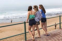 Mädchen-Strand Stockfotos