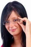 Mädchen-tragende Gläser Lizenzfreies Stockfoto