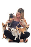 Mädchen und Chihuahua Lizenzfreie Stockfotografie