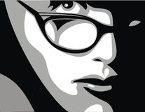 Mädchen und Gläser Stockbild