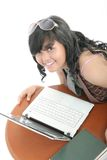 Mädchen und Technologie Lizenzfreies Stockbild