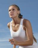Mädchenlack-läufer Stockfotos