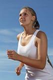 Mädchenlack-läufer Stockfoto