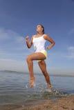 Mädchenlack-läufer Stockbild