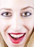 Mädchenlächeln Lizenzfreies Stockfoto