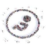 Médecine 3d d'embryon de personnes Image stock