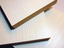Mdf boards. Medium density fiber boards closeup photo Stock Images