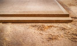 Free MDF Chipboard With Sawdust Royalty Free Stock Photo - 136496105