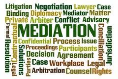 médiation Image libre de droits