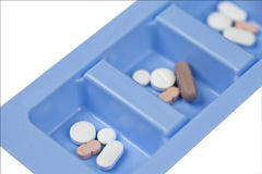 Mdicine Dispenser. Medicine in a dispenser to be used correctly Stock Images