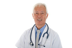 Médico castrense asiático mayor Imagen de archivo libre de regalías