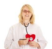 Médico com coração Fotos de Stock